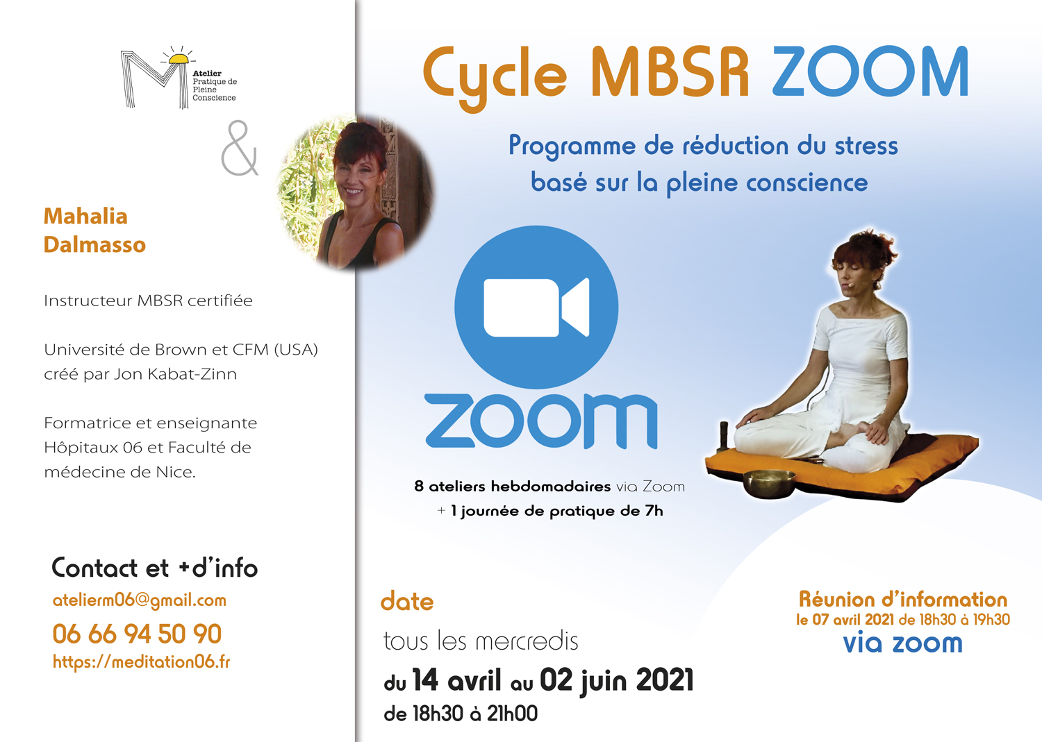 flyer cycles MBSR zoom avril mai 2021